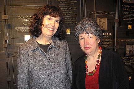 Photo of Kay Grabow and Professor Liora Bresler