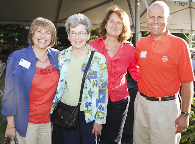 Photo of Associate Dean Joan Tousey, far left
