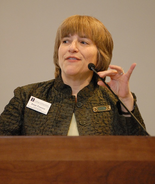 Joan Tousey at the 2009 Distinguished Alumni Awards ceremony