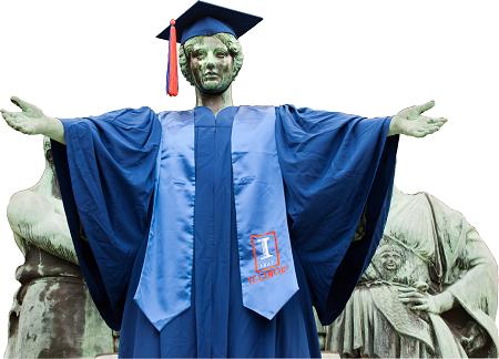 Graduation photo alma mater