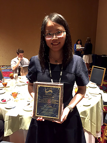 Feng with her award