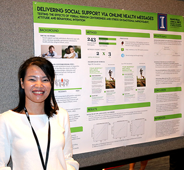 Pham with research poster