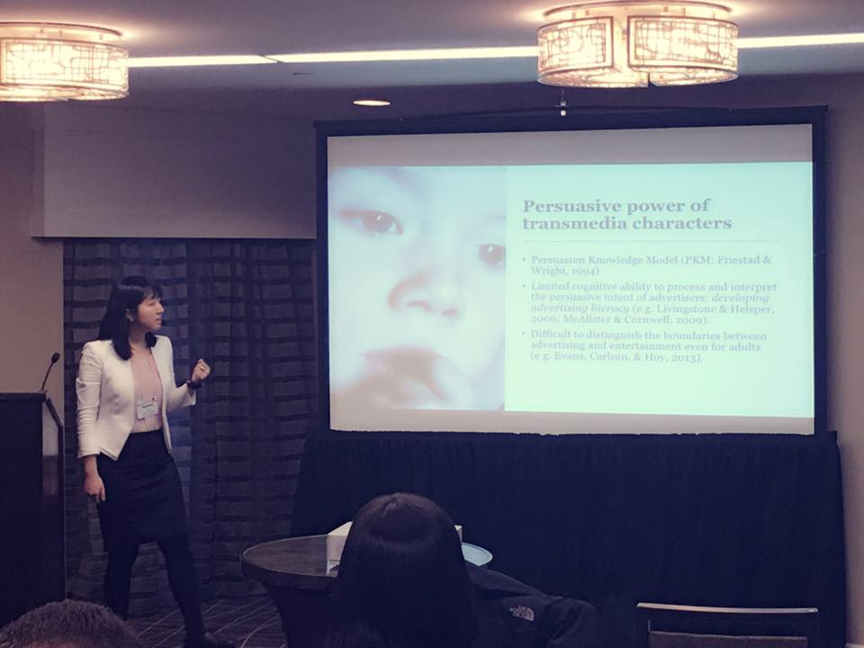 Regina Ahn presenting at conference