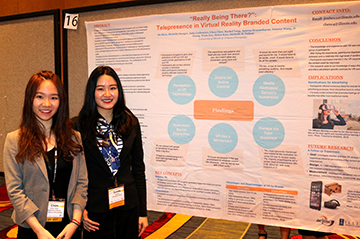 Chen Chen and Jie Shen with the research poster