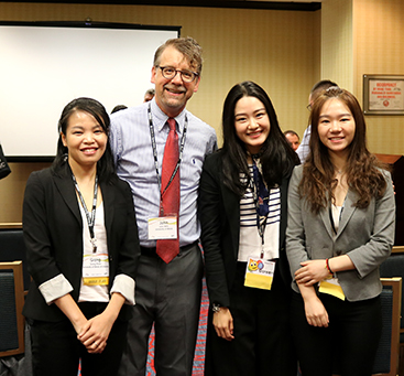 Wirtz with graduate students