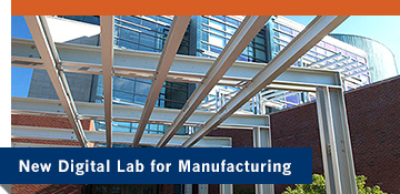 Illustration of manufacturing center, representing new Digital Labs for Manufacturing initiative.