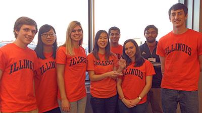Illinois iGEM team at international jamboree.