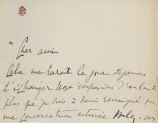 Proust letter 1890s