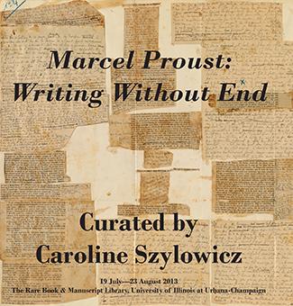 Proust exhibit handout