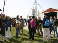 Participating in an Ag Day tour.