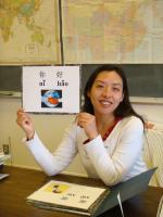 Teaching Mandarin at a local school.
