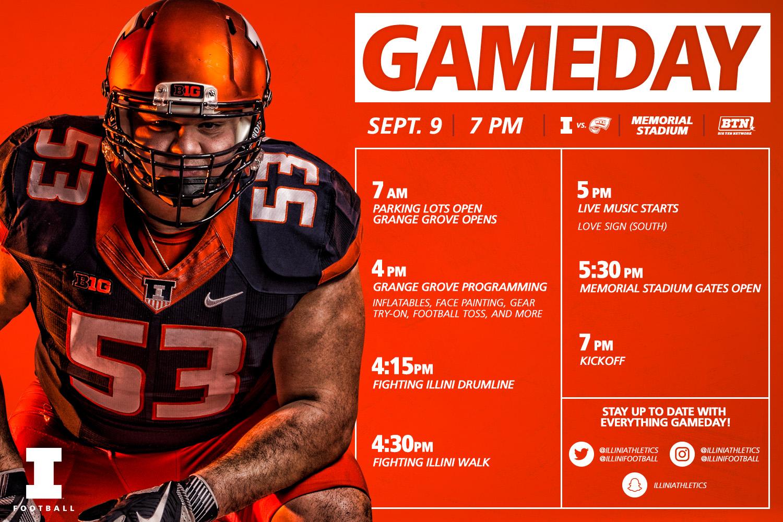 Illinois Football Vs Western Kentucky Gameday Timeline University Of Illinois Athletics