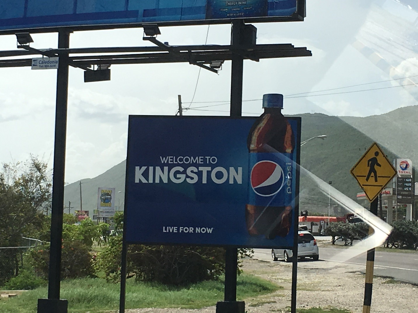 Welcome to Kingston Pepsi sign